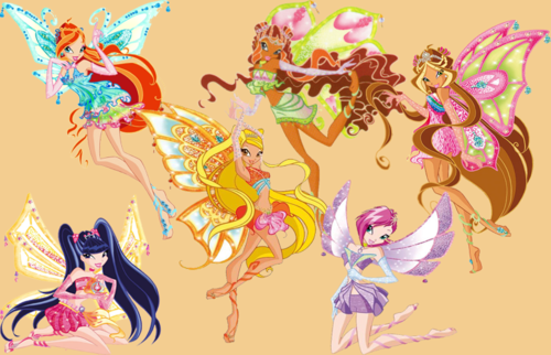 The Winx Club پیپر وال entitled Winx Enchantix