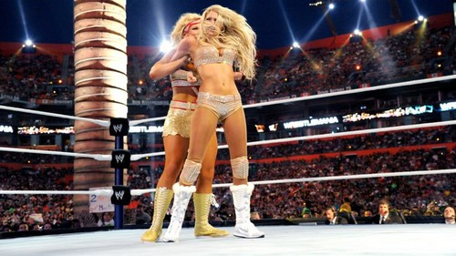 beth phoenix achtergrond possibly containing a hip boot and a leotard called Wrestlemania 28 Digitals 4/1/12