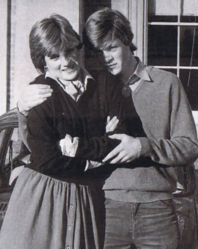 Young Princess Diana and her brother