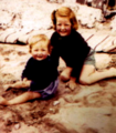 Young Princess Diana and her older sister