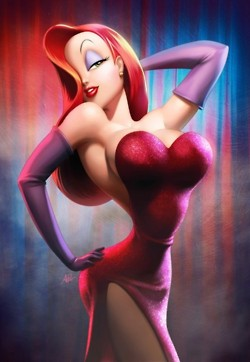 Jessica Rabbit kertas dinding entitled jessica