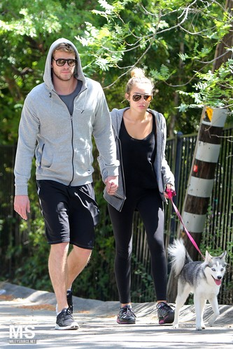 03/04 Taking A Walk With Liam And Floyd In Toluca Lake