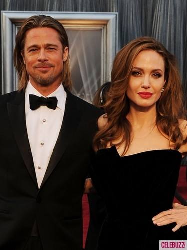 Angelina Jolie & Brad Pitt at Oscar 2012