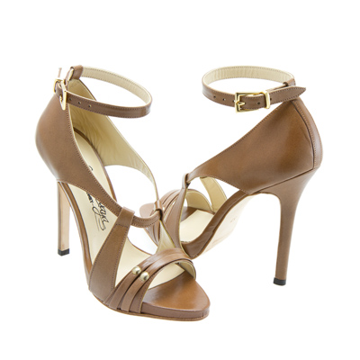 Susie Sawaya Sydney High Heels Stilettos images Tan Leather ...