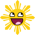 Awesome Smiling Philippine Sun - awesome-face photo