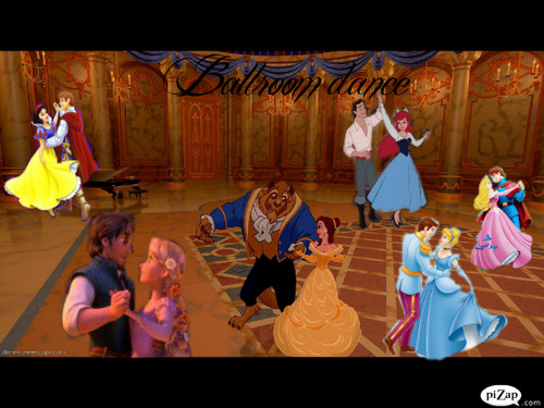 डिज़्नी क्रॉसोवर वॉलपेपर titled Ballroom Dance