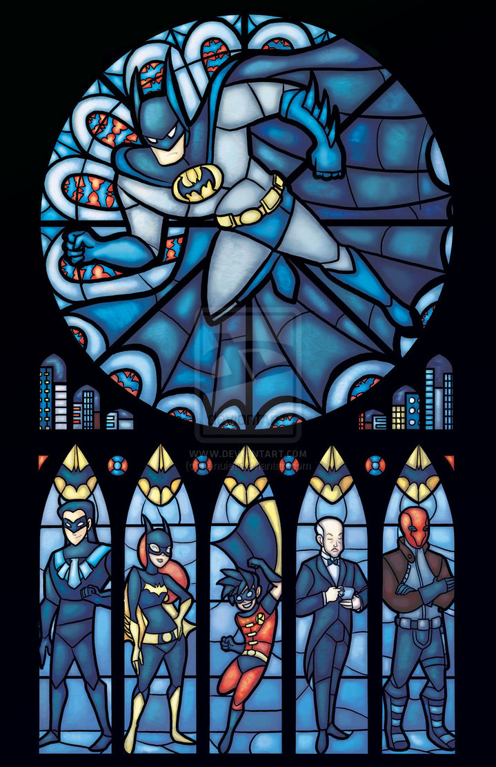 Batfamily Images Batman Rose Window Hd Wallpaper And