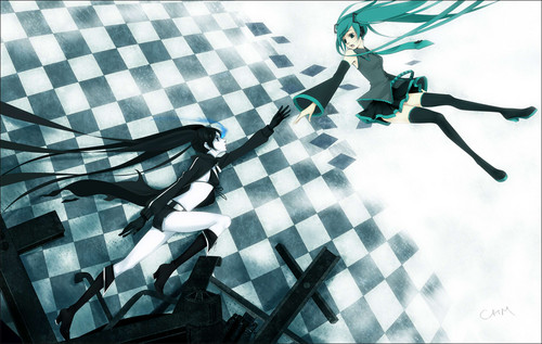 Black Rock Shooter and Hatsune Miku