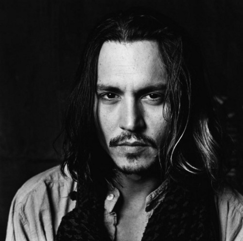 Johnny depp wallpaper titled black and white