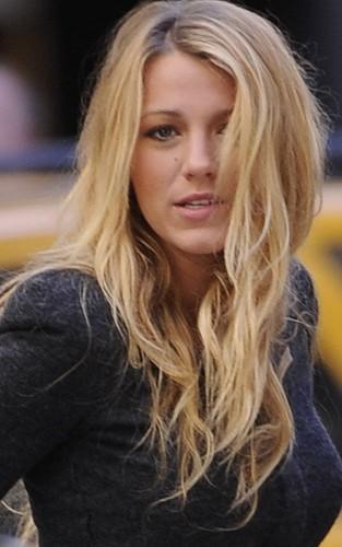 Blake in NYC on set