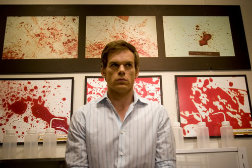 Dexter wallpaper possibly containing a business suit, a well dressed person, and a brasserie titled Bloody Random Dex Morgan