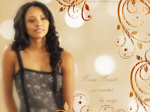 Bonnie Bennett ...surrounded by magic