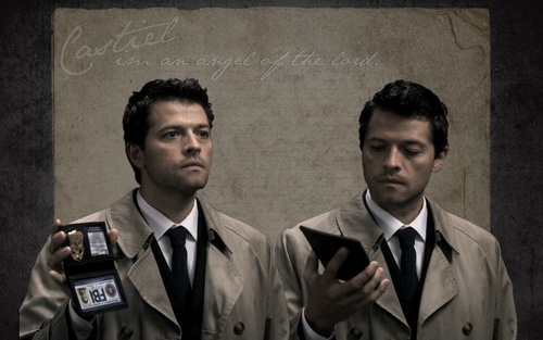 Castiel wallpaper with a business suit titled Cas