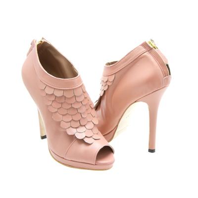 High Heel Ankle Boots, Open Toe High Heels, Peeptoe Shoes,