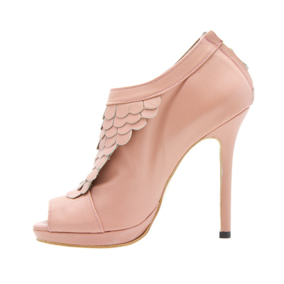 High Heel Ankle Boots, Open Toe High Heels, Peeptoe Shoes,