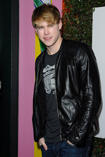 Glee wallpaper probably with a hip boot, a well dressed person, and an outerwear entitled Chord at grand opening of Planet Dailies and Mixology at The Grove in West Hollywood, April 5th 2012