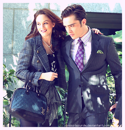 Blair & Chuck karatasi la kupamba ukuta containing a business suit and a suit entitled Chuck & Blair <3