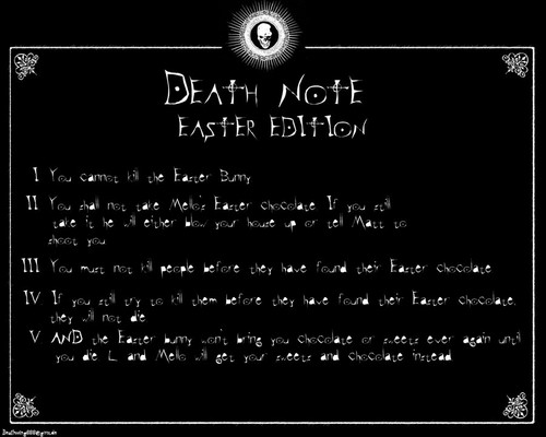 死亡笔记 壁纸 titled Death Note - Easter Rules
