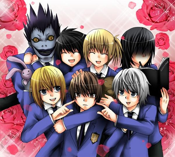 Ouran High School Host Club Wallpaper With Anime Entitled Death Note