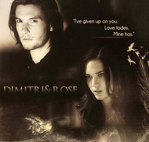 Vampire Academy wallpaper probably containing a sign, a portrait, and anime titled Dimitri&Rose