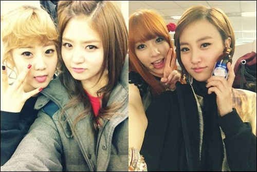 EXID (이엑스아이디) 바탕화면 possibly with a portrait entitled Dami, JungHwa, Hani,Haeryung