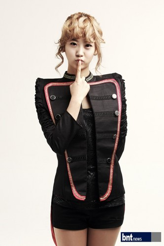 EXID (이엑스아이디) fondo de pantalla possibly with a well dressed person and an outerwear called Dami