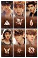 EXO-K Members Logo Symbols