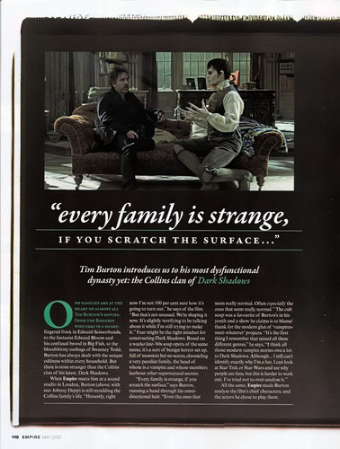 Tim Burton's Dark Shadows wallpaper entitled Empire Magazine May 2012 Scans ~ Dark Shadows Article