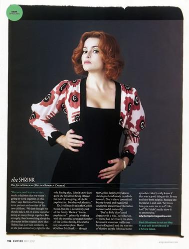 Empire Magazine May 2012 Scans ~ Dark Shadows bài viết