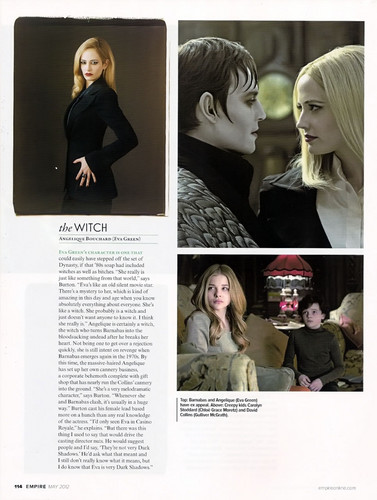 Tim Burton's Dark Shadows wallpaper probably containing a portrait entitled Empire Magazine May 2012 Scans ~ Dark Shadows Article