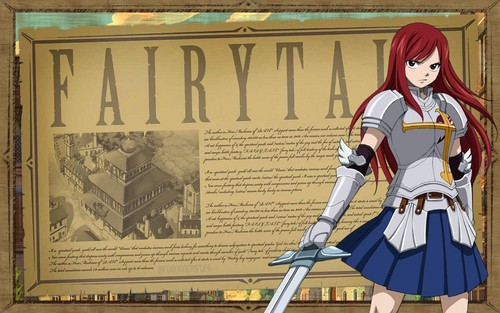 Erza Scarlet wallpaper probably containing anime entitled Erza