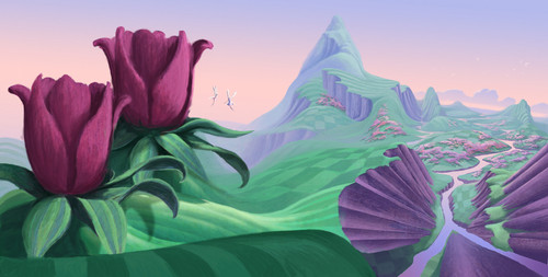 Fairytopia Places concept art kwa Walter Martishus
