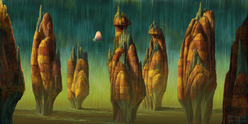 Fairytopia Places concept art sejak Walter Martishus