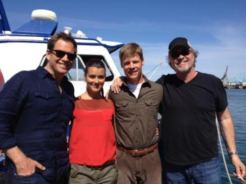 Filming on Location / Michael, Cote, Joel and Dennis