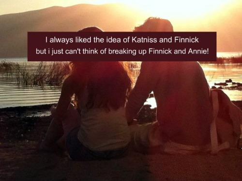 Finnick Odair kertas dinding possibly containing a sunset, a sign, and Anime called Finnick & Annie