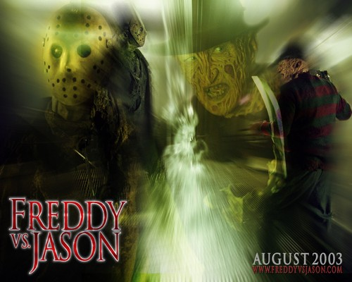 Friday the 13th wallpaper containing a fountain titled Freddy vs Jason