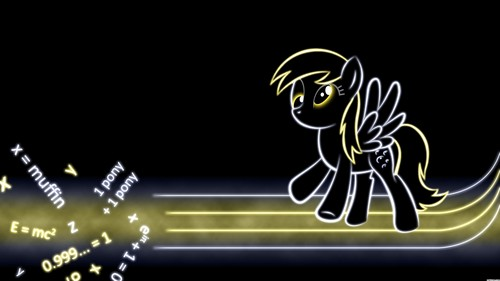 Glowing Derpy Wallpaper