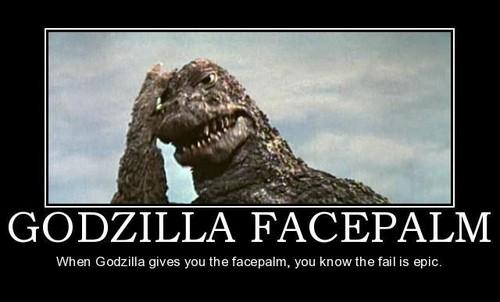 Godzilla Facepalm - godzilla Fan Art