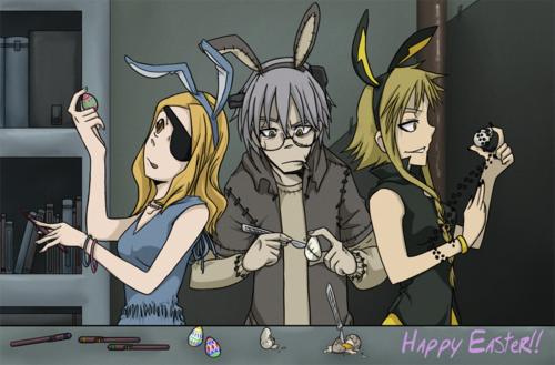 Soul Eater (Пожиратель душ) Обои with Аниме entitled Happy Easter!
