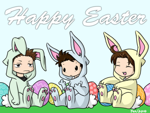 Supernatural wallpaper containing anime called Happy Easter y'all!!