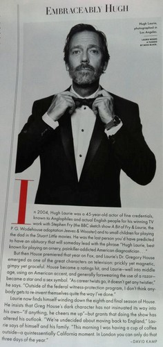 Hugh Laurie in Vanity Fair May 2012