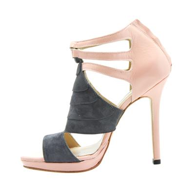 Susie Sawaya Sydney High Heels Stilettos images Grey Suede Heels