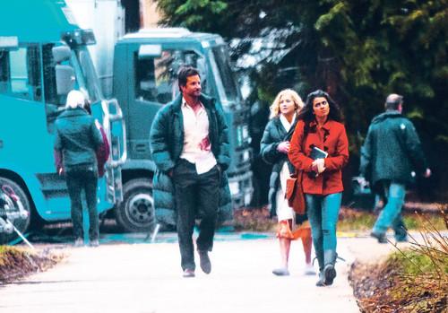 Jen on the set of 'Serena'