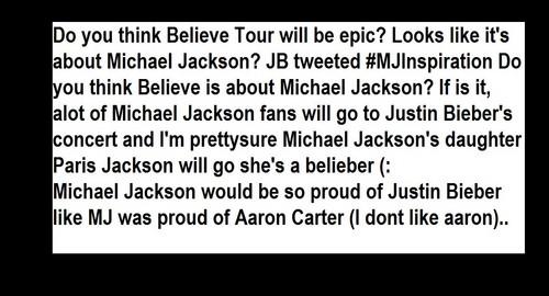 Justin Bieber's BIGGEST Inspiration Michael Jackson