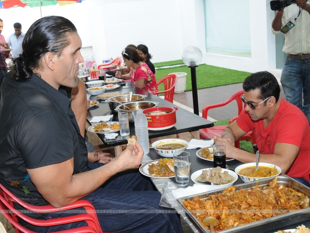 Khali with wife