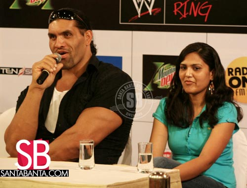 Khali With Wife The Great Khali Fan Art 30340636 Fanpop