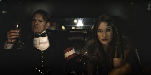 Iron Sky wallpaper probably with a business suit and a dress suit entitled Klaus and Vivian