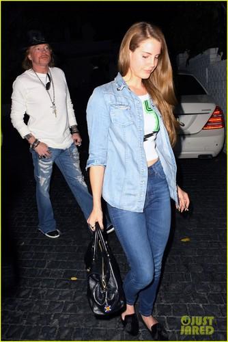 Lana Del Rey & Axl Rose Hang In Hollywood
