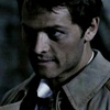 Castiel photo possibly with a green beret titled Lazarus Rising