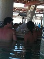 Lea Michele and Cory Monteith in a hot tub